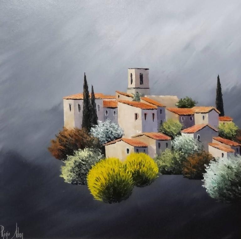 Regis Sibra Landscape Painting - Mormuron des Le Luberon