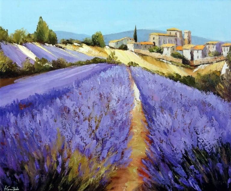 Alain Guirado Landscape Painting - Champ de Lavande à Valensole