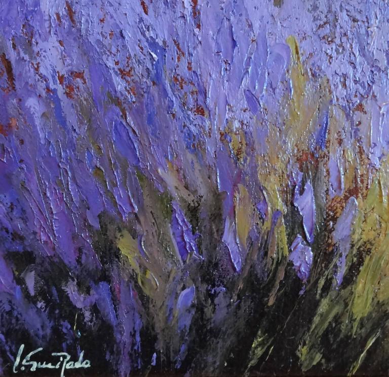 Champ de Lavande à Valensole - Impressionist Painting by Alain Guirado