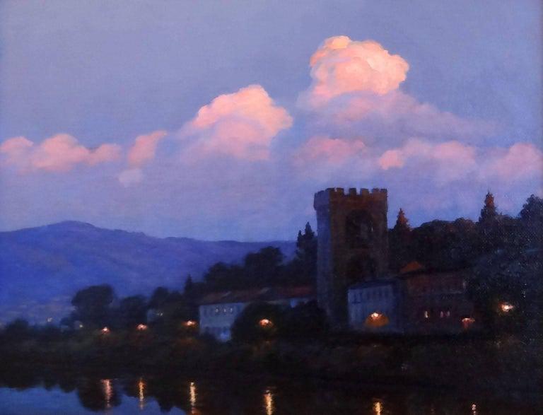 Victoria Bondarenko Landscape Painting - River Arno, Florence