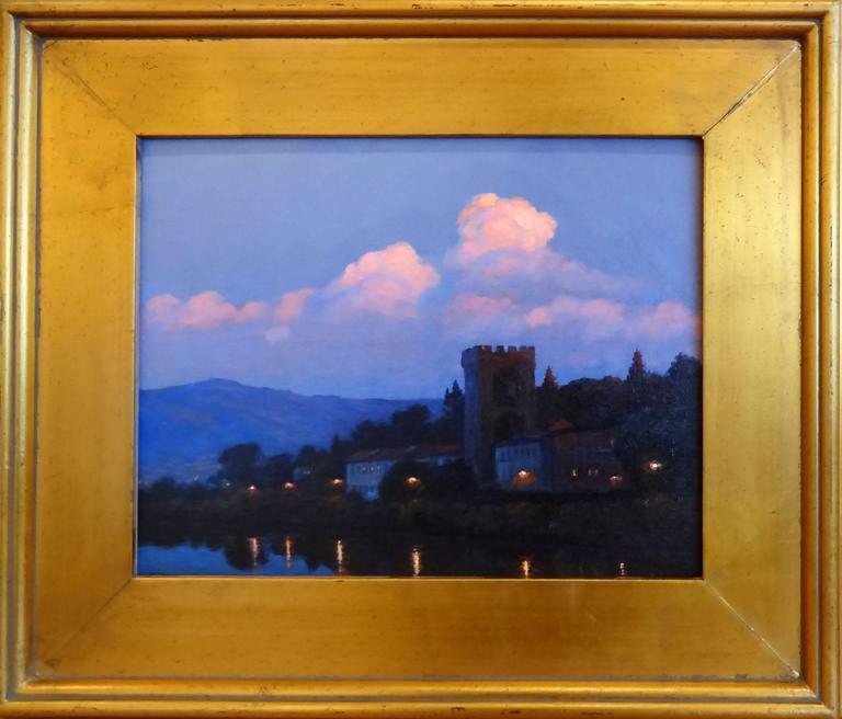 River Arno, Florence - Painting by Victoria Bondarenko