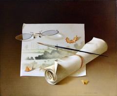 Lunettes et Pinceau