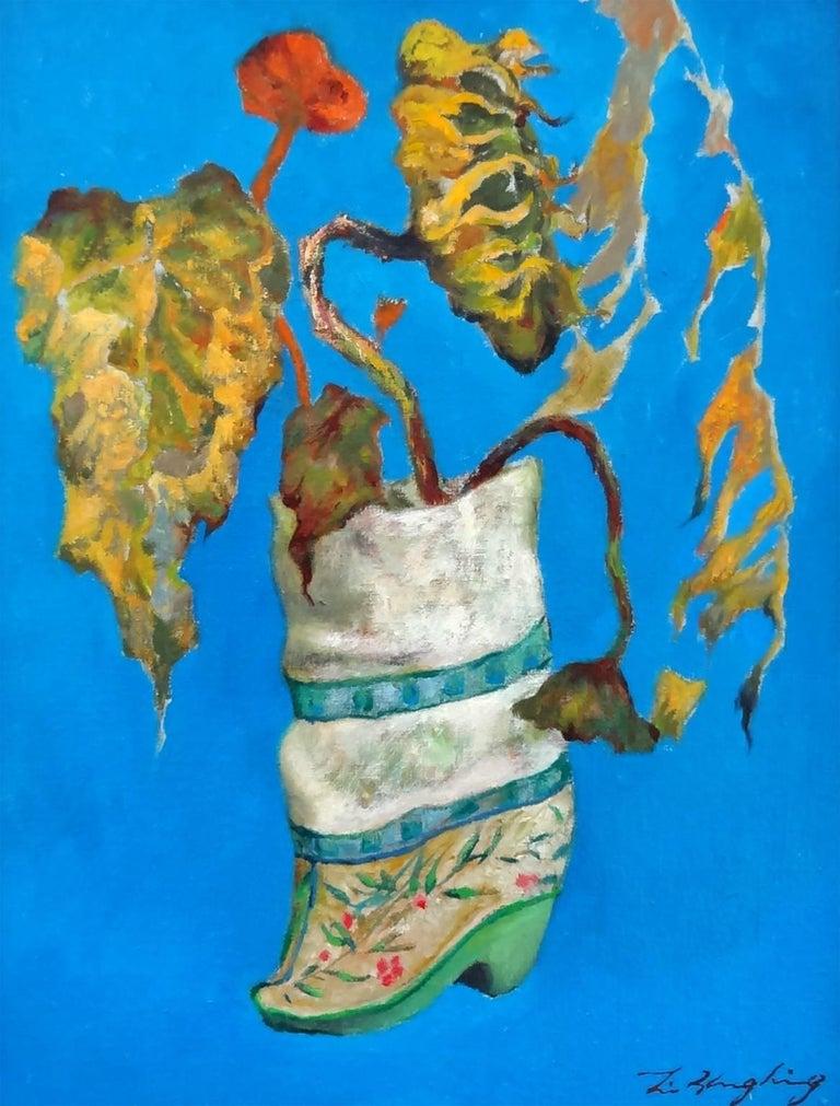 Li Zhong Liang Still-Life Painting - Embroidery Slipper