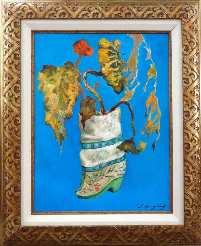 Embroidery Slipper - Painting by Li Zhong Liang