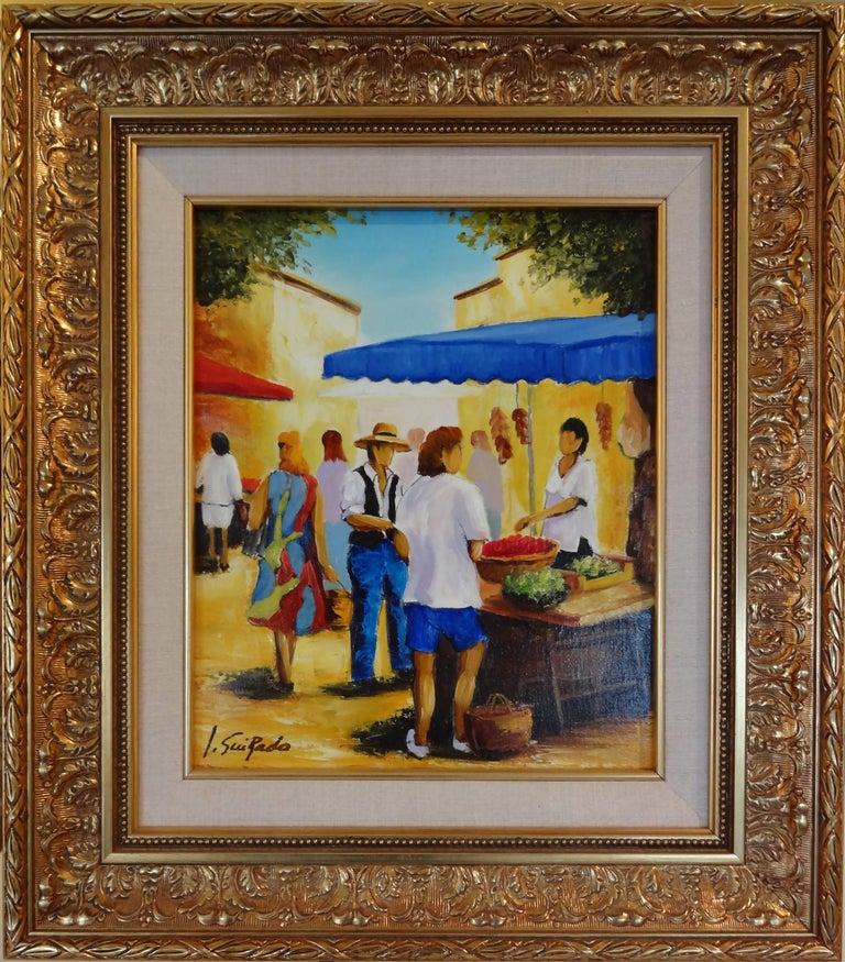 Salade et Framboises - Painting by Alain Guirado