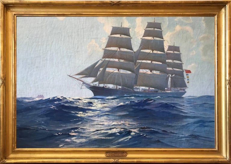 The Torrens Conrad's Last Ship - Painting by Charles Robert Patterson