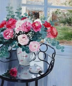 The bouquet in front of the window (Le Bouquet Devant la Fenetre)