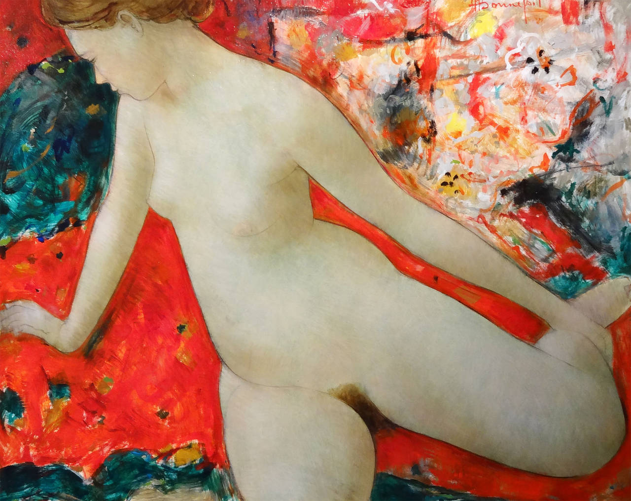 Alain Bonnefoit Nude Painting - Primavera