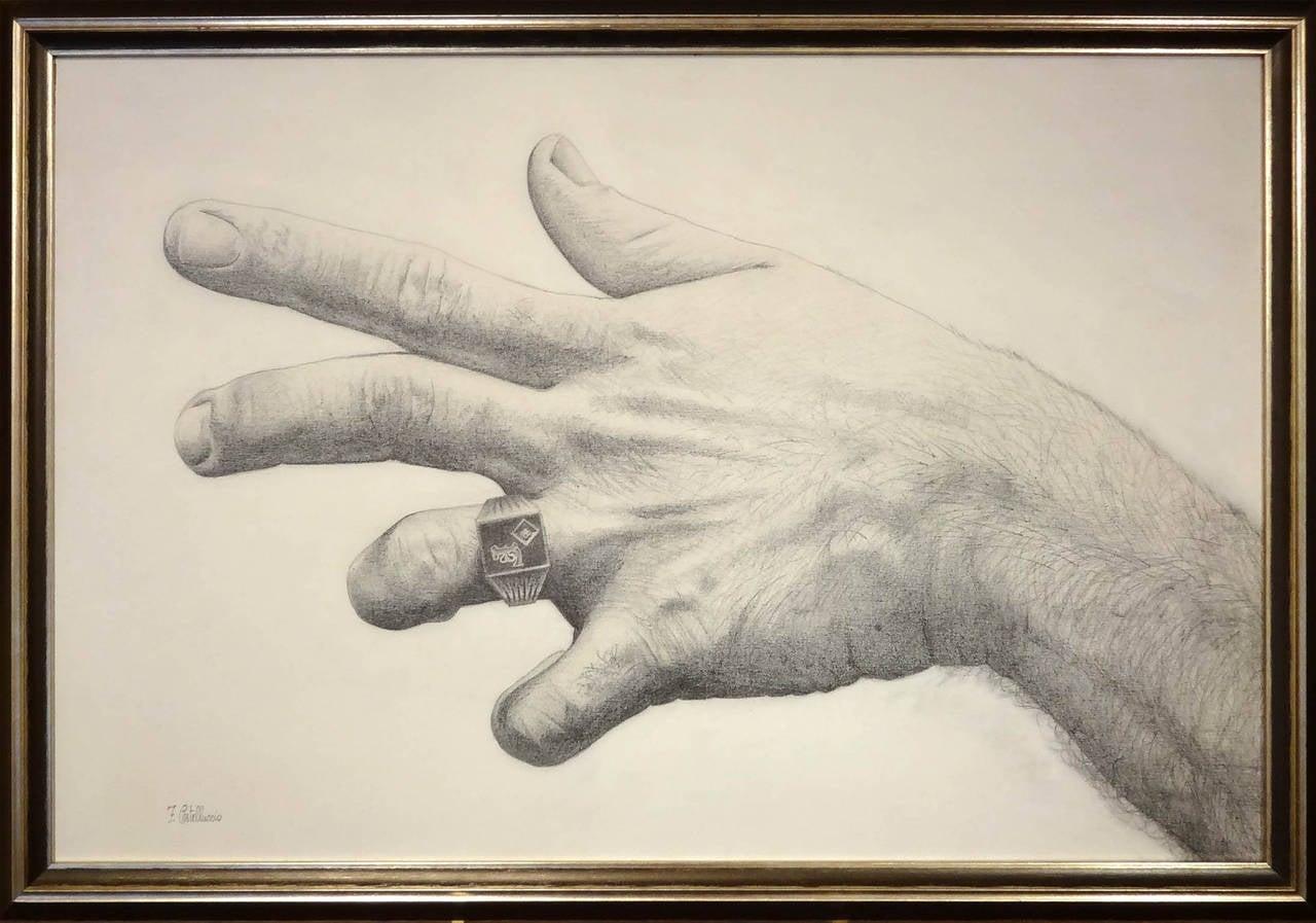 Mano del Artista (Hand of the Artist) - Beige Still-Life by Federico Castelluccio