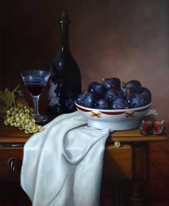 Coupe de Figues, Raisins et Drape