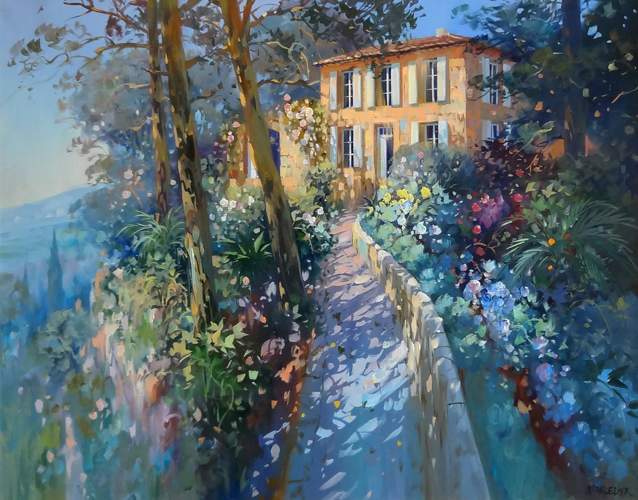 Laurent Parcelier - Sous les Arbres (Under the Trees), Painting at 1stdibs