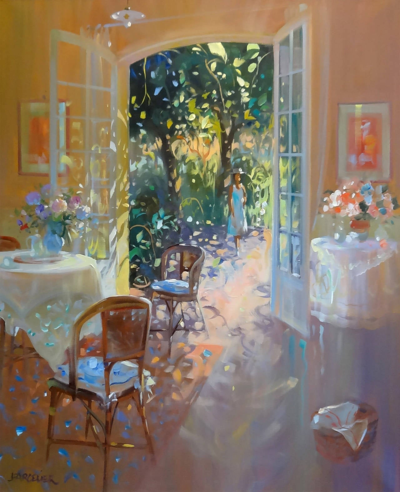 Laurent parcelier dans la salle manger in the dining for Dining room paintings sale