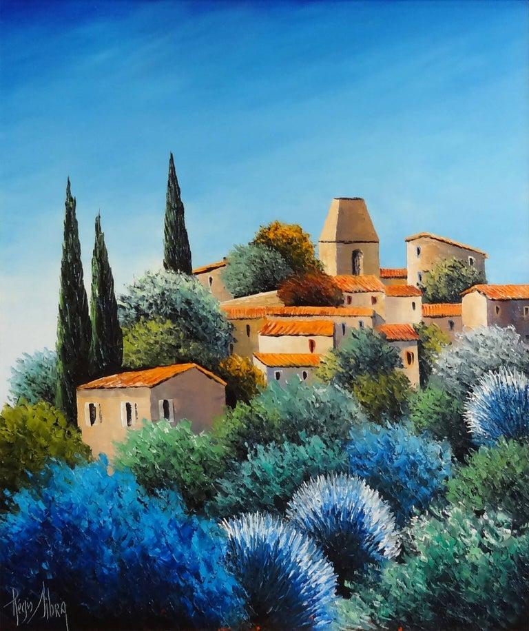 Regis Sibra Landscape Painting - Old Cannet (Le Vieux Cannet)