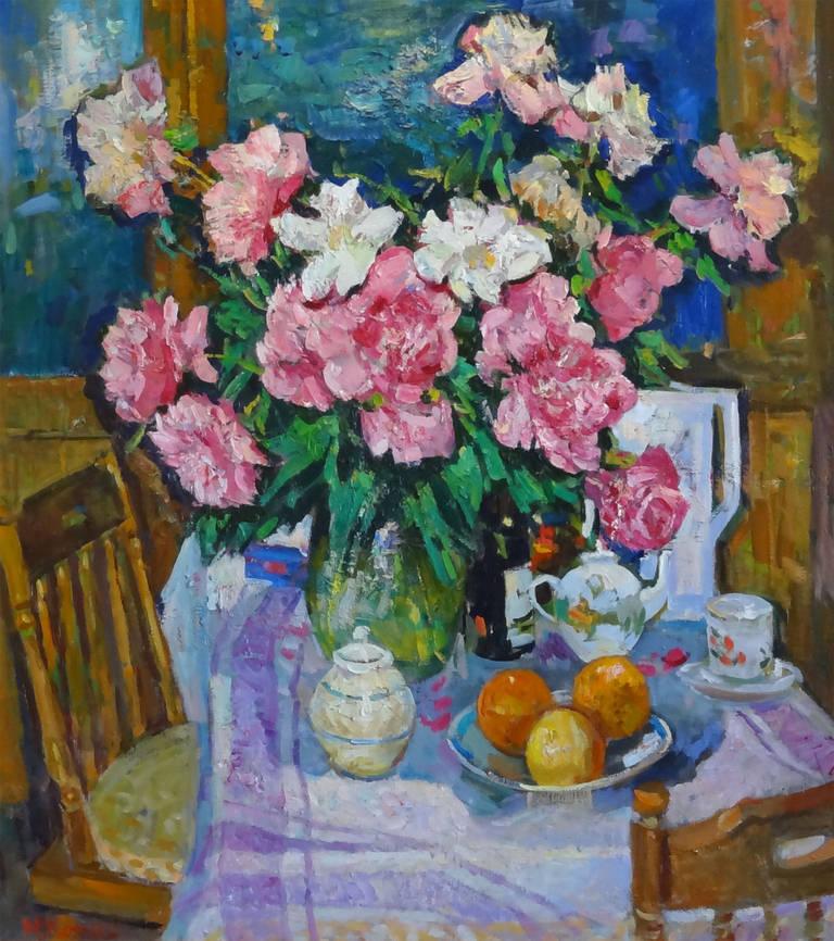 Mikhail Kokin Still-Life Painting - Interior