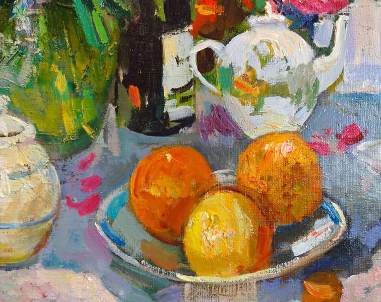 Interior - Painting by Mikhail Kokin