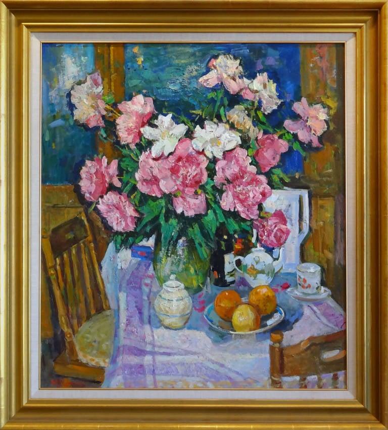 Interior - Impressionist Painting by Mikhail Kokin