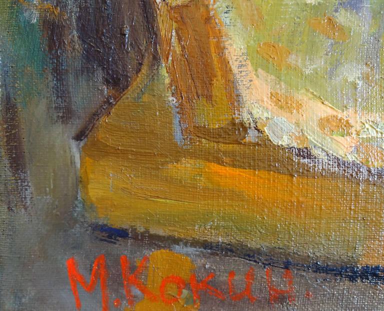Interior - Gray Still-Life Painting by Mikhail Kokin