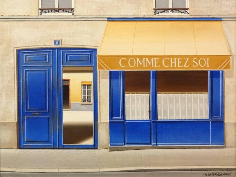 Angelo Mozziconacci Landscape Painting - Comme Chez Soi Paris