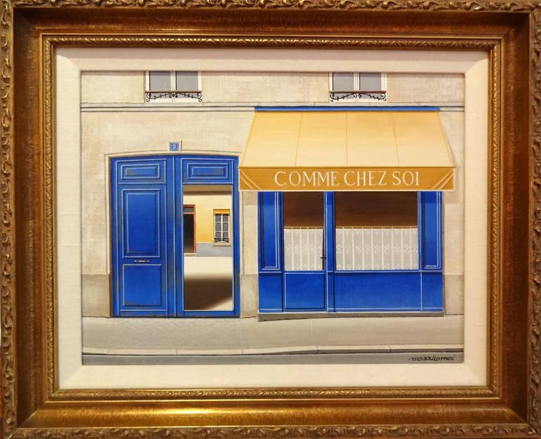 Comme Chez Soi Paris - Painting by Angelo Mozziconacci