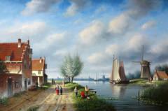A Dutch Village in Summer
