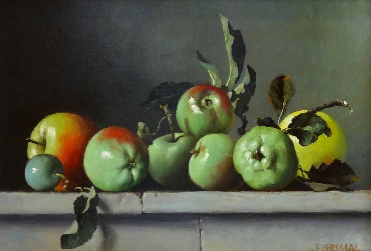 Green Apples, Still Life (Nature Morte, Pommes Vertes)