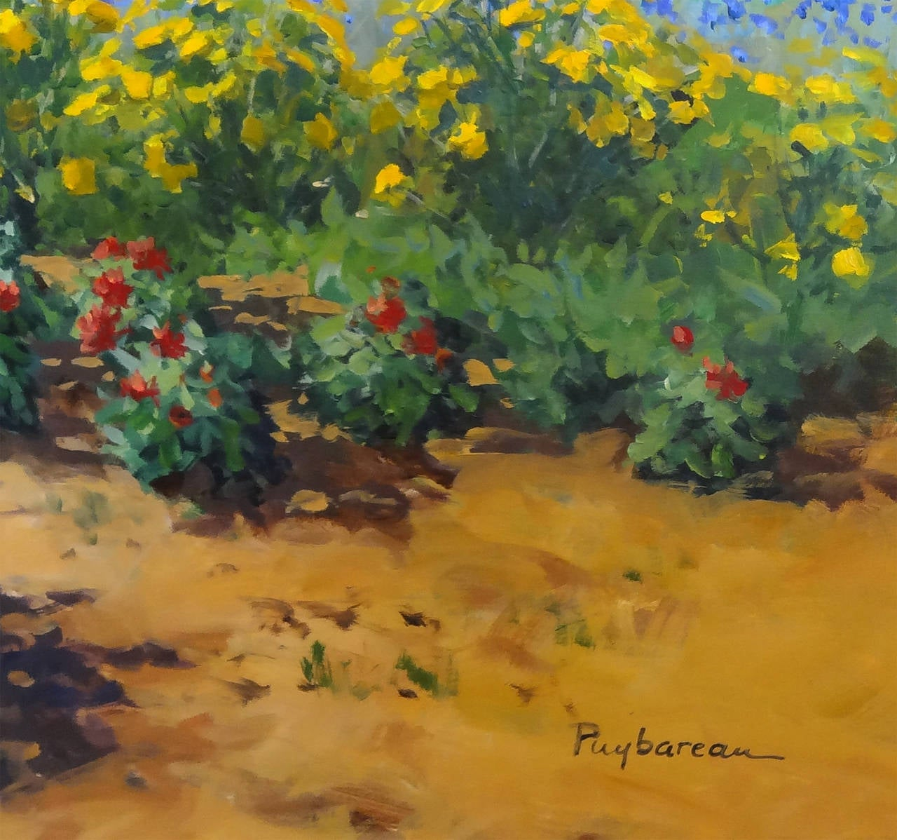Annie puybareau la p pini re painting for sale at 1stdibs for Pepiniere