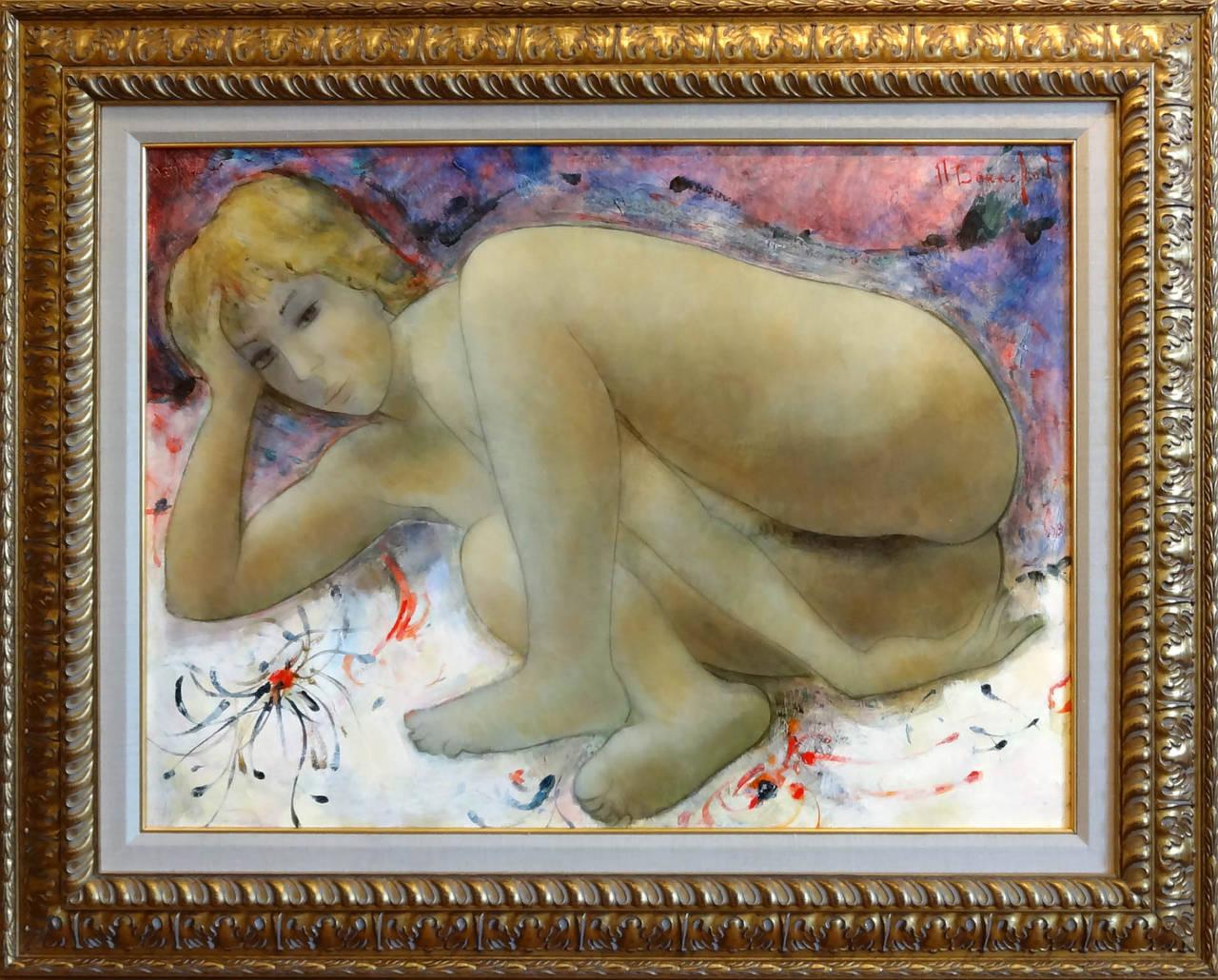 Rose - Painting by Alain Bonnefoit