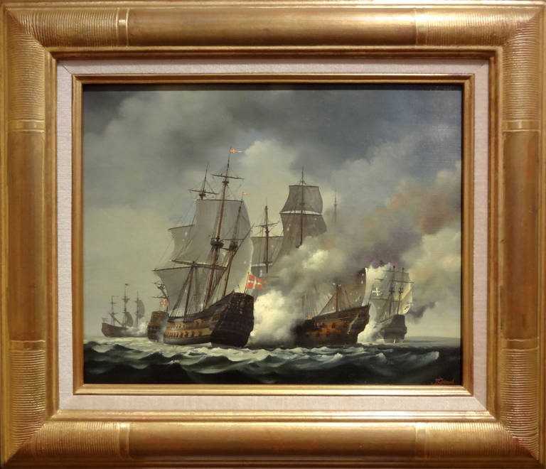 Bataille du Bornholm 1645 - Painting by Jean Grimal