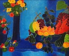 Composition Fleurs et Fruit
