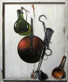 Utensils with a Bottle of Wine (Ustensiles avec Bouteille de Vin)