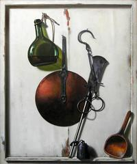 Utensils with a Bottle of Wine (Ustensiles avec Bouteille de Vin)