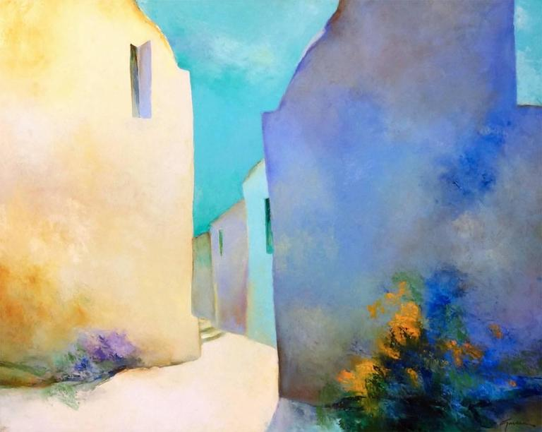 Claude Gaveau Landscape Painting - A L'Ombre (In the Shade)