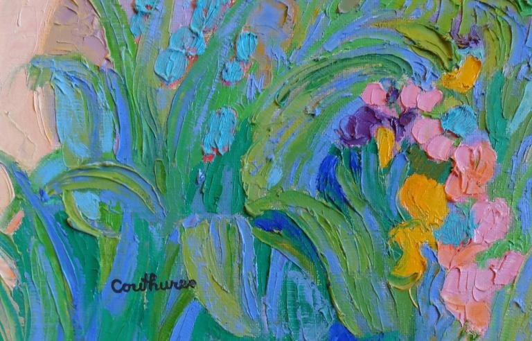 Floralies Nicoises - Impressionist Painting by Daniel Couthures