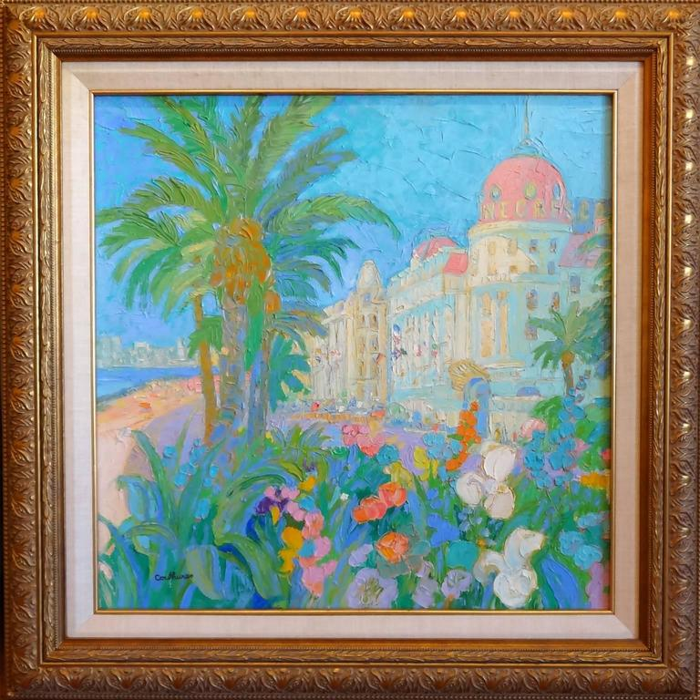 Floralies Nicoises - Painting by Daniel Couthures