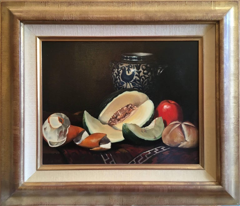 NATURE MORTE POTERIE - Painting by Jean Grimal