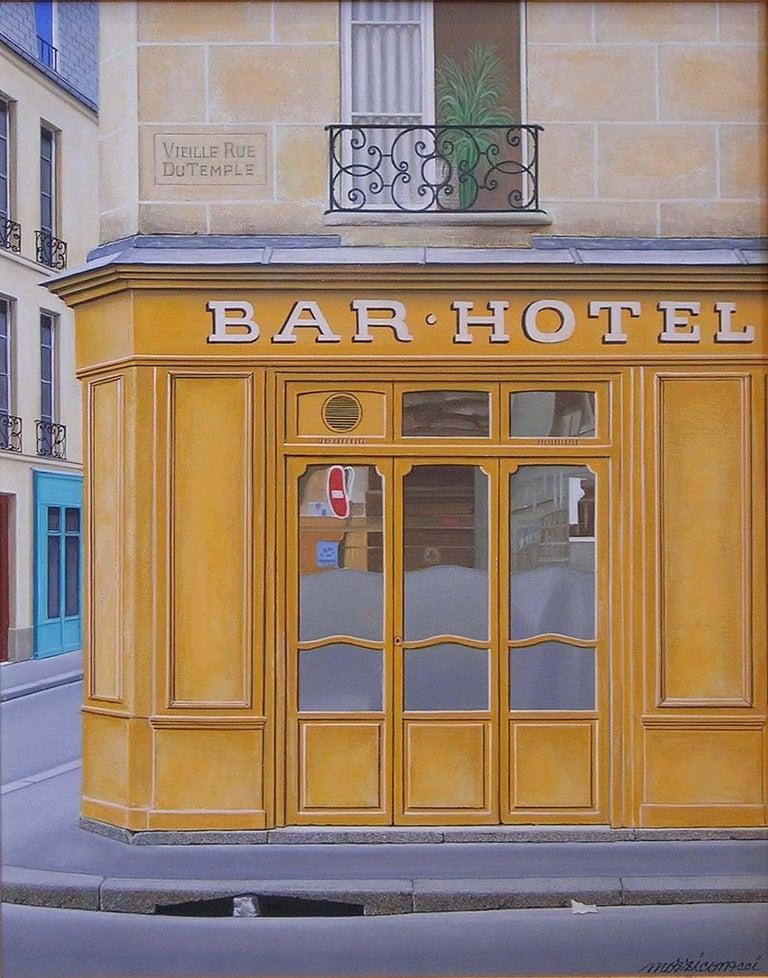 Angelo Mozziconacci Landscape Painting - Bar – Hotel