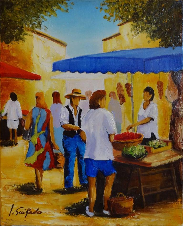 Alain Guirado Portrait Painting - Salade et Framboises
