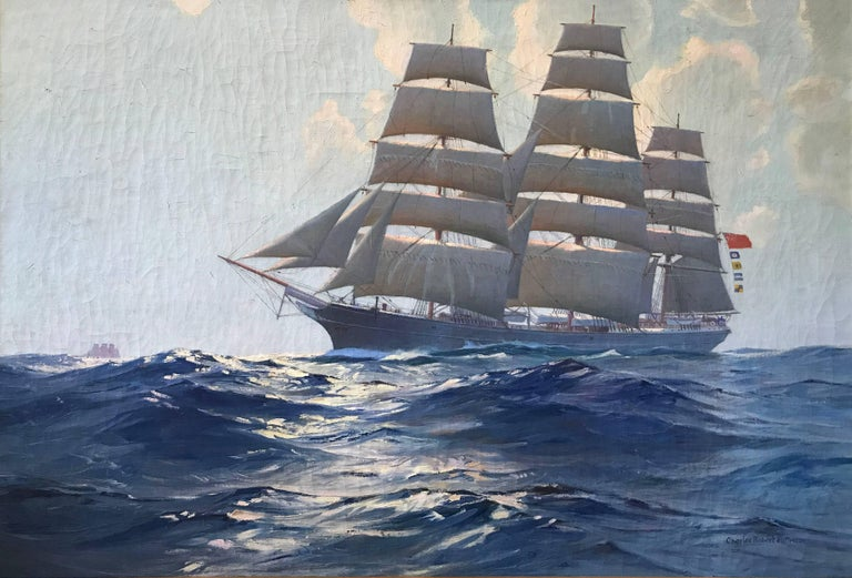 Charles Robert Patterson Landscape Painting - The Torrens Conrad's Last Ship