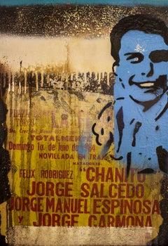 Torero XXIII, Contemporary Art, Oil Collage on Linen, México