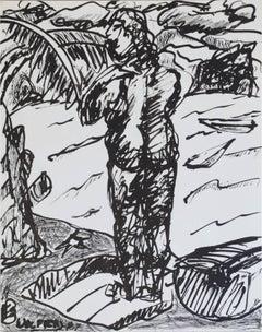 Study, Through Paradise Woman at River, Contemporary Art