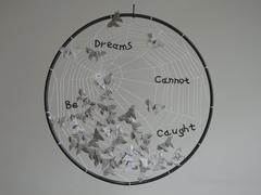 "Sculpture ""Dreams Cannot be Caught"""