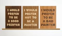 """Sculpture """"I Wood"""""""