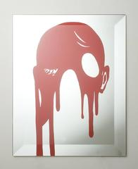 """Silkscreen on mirror """"How Are You Today ?"""""""