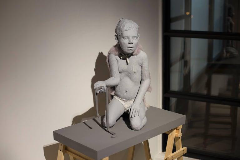 Nicholas Crombach Figurative Sculpture - Predator, Prey & Victim