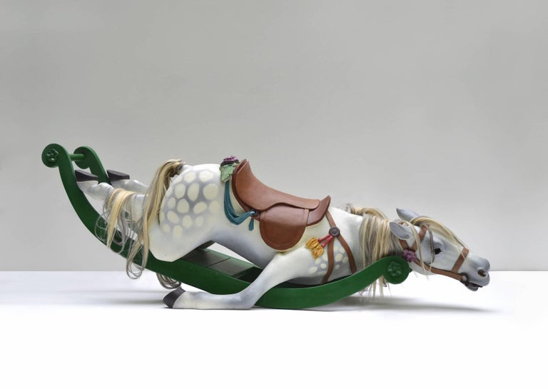 Nicholas Crombach Figurative Sculpture - End Of The Chase