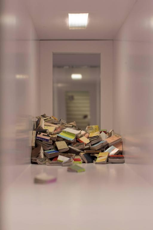 Untitled (Floating Books) - Sculpture by Erika Dueck