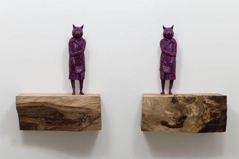 Jean-Robert Drouillard Figurative Sculpture - Love Louve Camille
