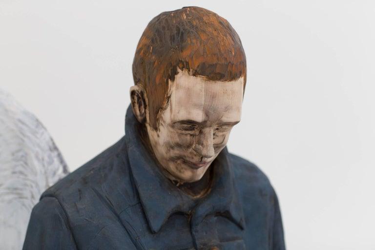 Jean-Robert Drouillard Figurative Sculpture - Coeur de plume