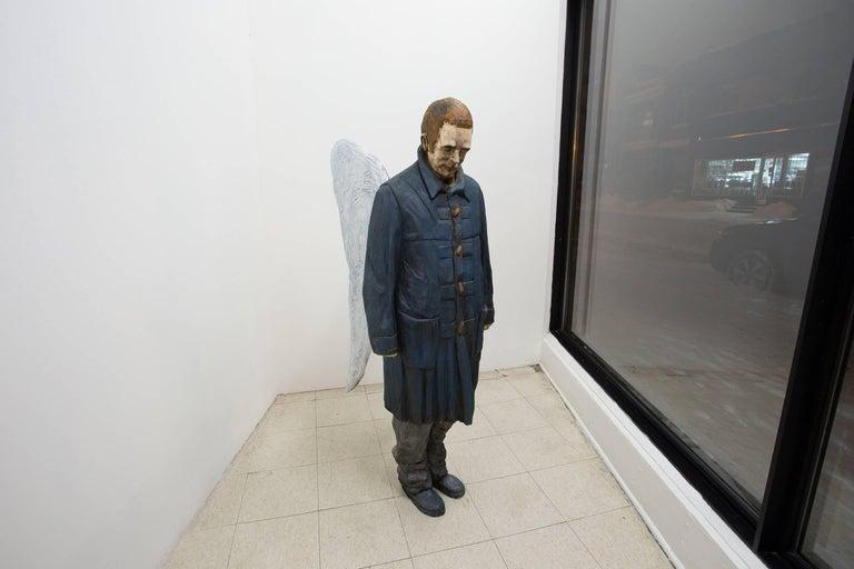 Coeur de plume - Contemporary Sculpture by Jean-Robert Drouillard