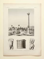 """Antinoe"" Etching from Description de l'Egypte"